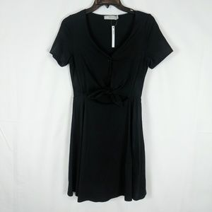 Asos Nwt Women's Size 6 Black Button Up Tie Front